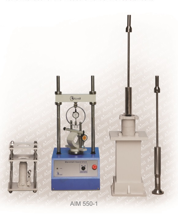 Aimil products, building materials testing, Marshall Stability Testing Machine, Testing Equipment - Marshall Stability Test, Marshall Stability Apparatus, Marshall Stability Testing Machine - Manufacturers, Suppliers , Marshall Stability of Bituminous Mixture,  supplier of Marshall Stability Test Apparatus, marshall stability test procedure, Soil testing instruments - Aimil.com