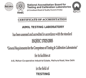 NABL Certification for - Aimil Testing Laboratory – aimil.com