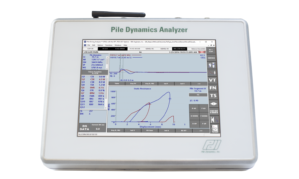 Pile Dynamics Analyzer-DLT (PDA-DLT)
