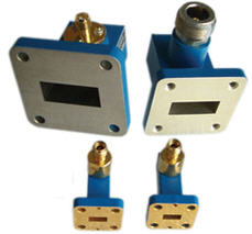 RIGHT ANGLE LAUNCH WAVEGUIDE COAXIAL ADAPTER