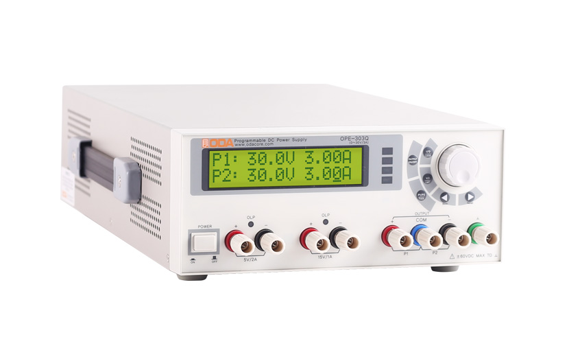OPE-Q Series Linear Programmable DC Power Supply Economical type, 4 Channels (2 variable output, 2 fixed output), Non-Isolated type