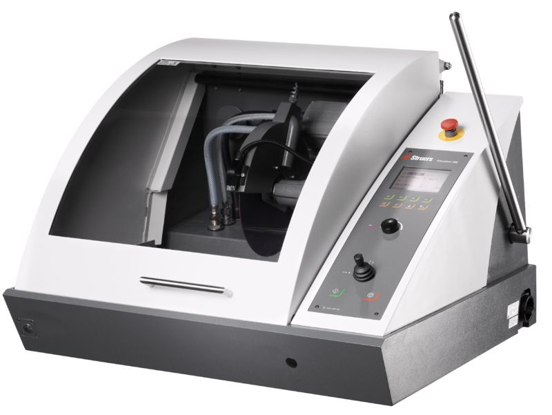 Discotom-100/-10 - Fully Automatic Table Top Wet Abrasive Cutting Machine.