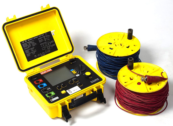 Earth resistivity test kit