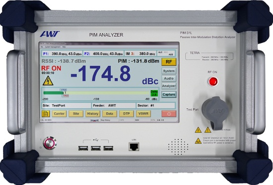 PIM Test Equipment for 400 MHz TETRA and UHF