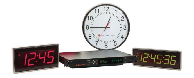 spectracom synchronized clocks and time displays, aimil.com, spectracom products