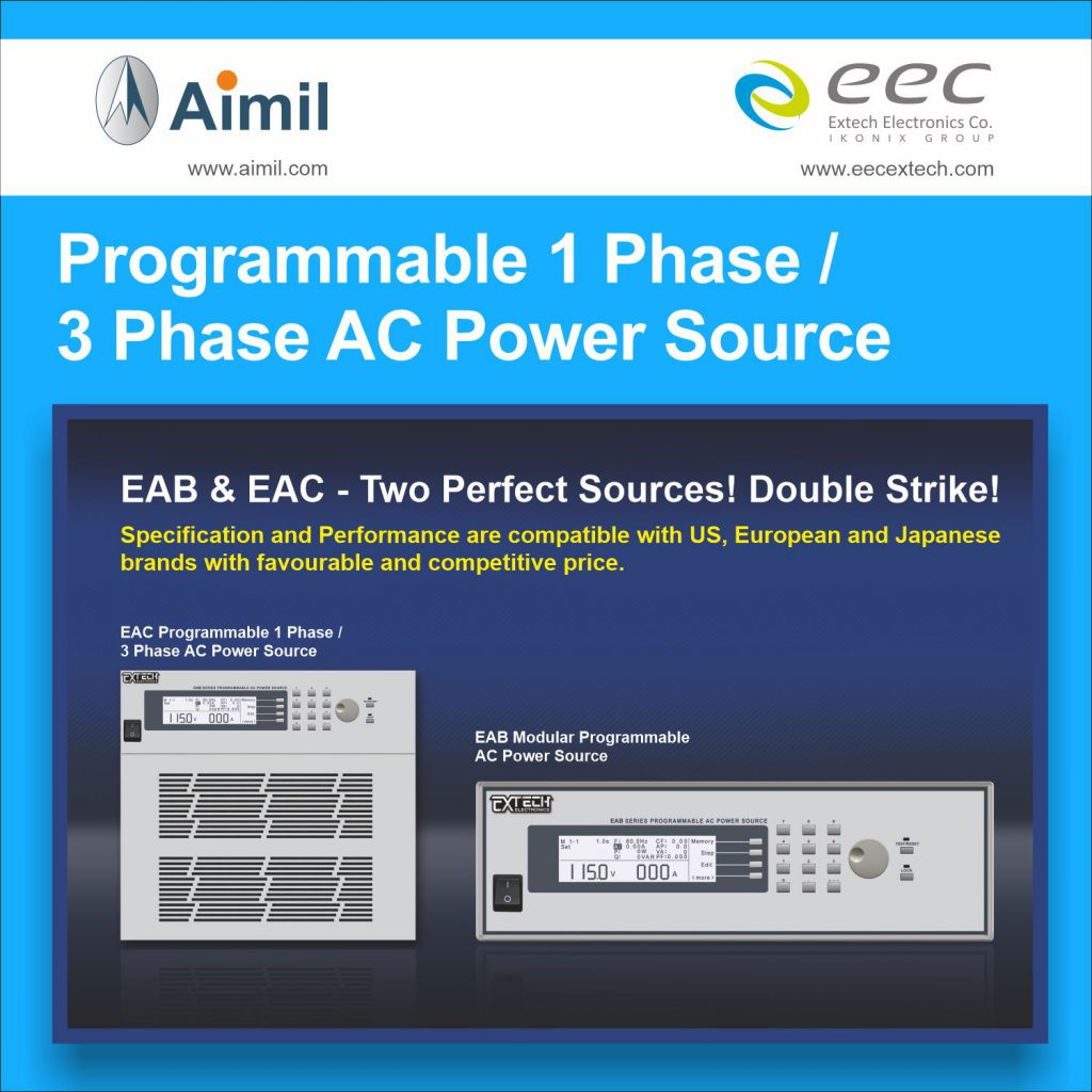 Programmable 1 Phase - 3 Phase AC Power Sources